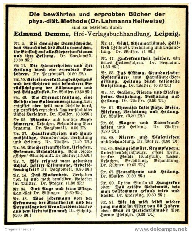 Original Werbung Anzeige 1910 Diat Dr Lahmann Vintage Print