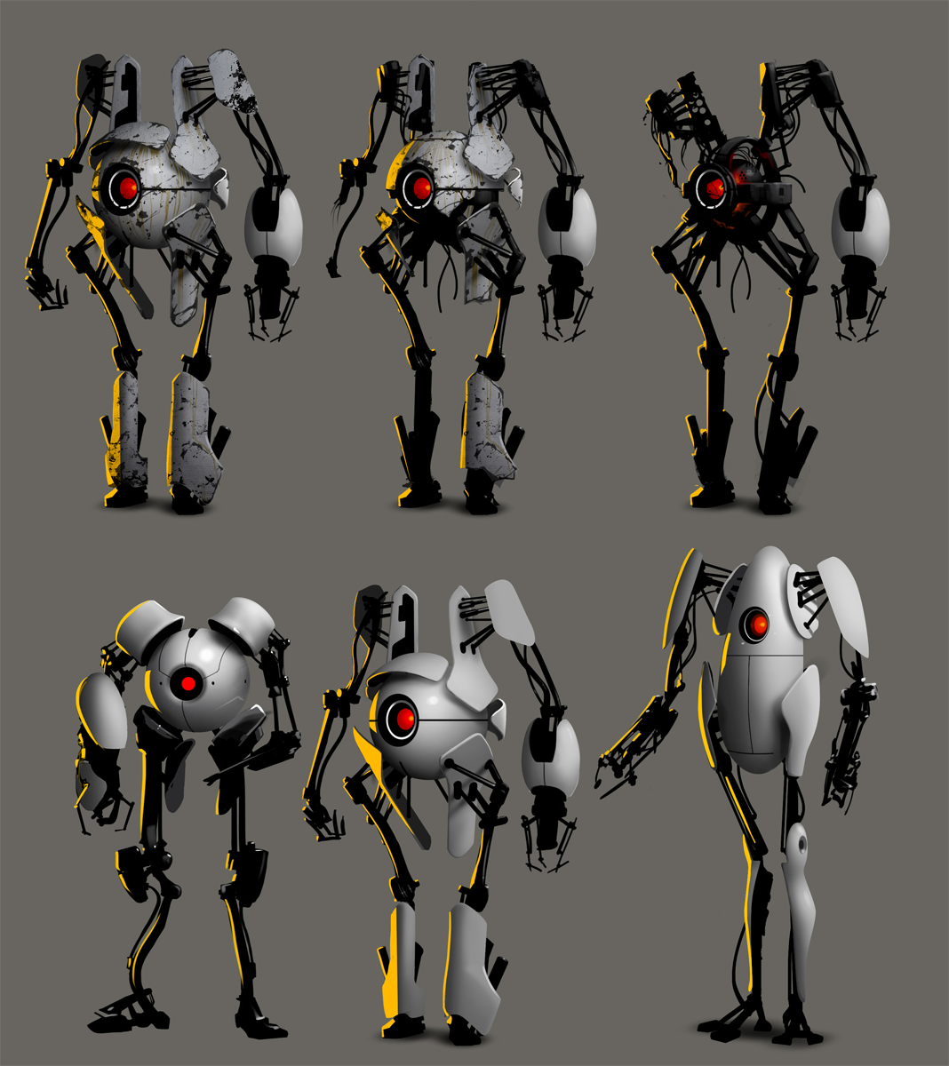 21662 Portal 2 Atlas P Body Concept Art In 2019 Robot