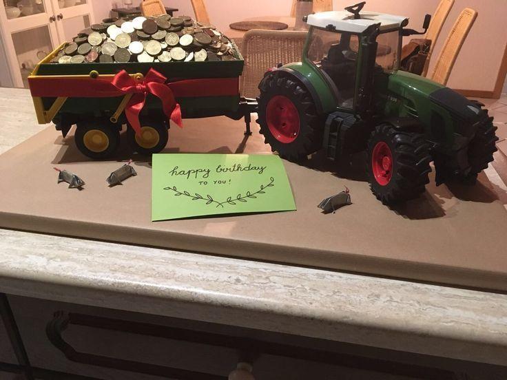 Geschenk 25 Geburtstag Geldgeschenk Trecker Bauer Fendt Traktor Diy Geldgeschenke Geburtstag 25 Geburtstag Traktor Geburtstag