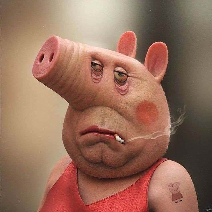 Real Life Peppa Pig By Yanblanco3d Art In 2019 Pig