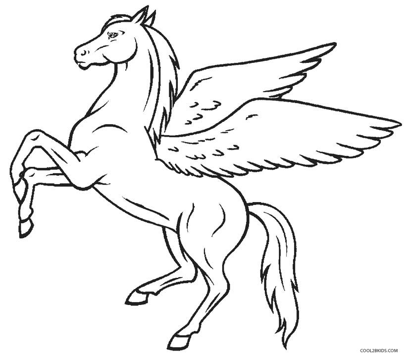 Pegasus Coloring Pages Pegasus Drawing Unicorn Coloring Pages