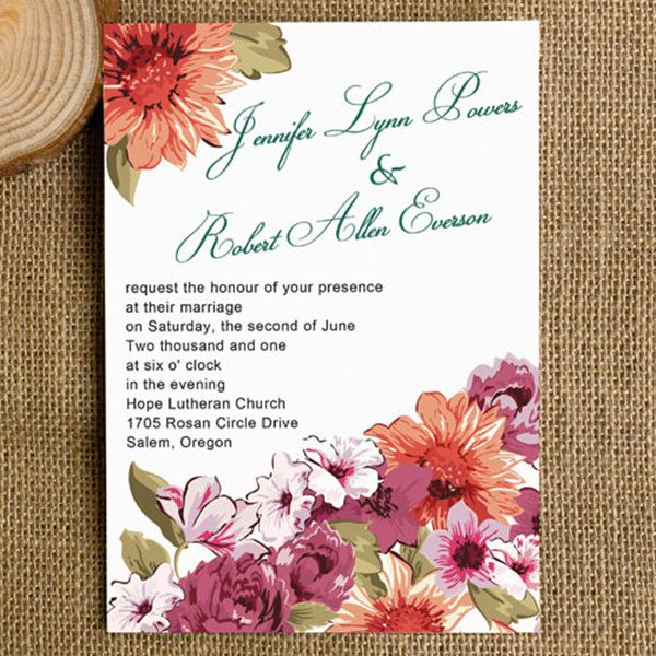 Top 10 Fall Wedding Invitations 2014 at Elegantweddinginvites - best of invitation card for new zoo