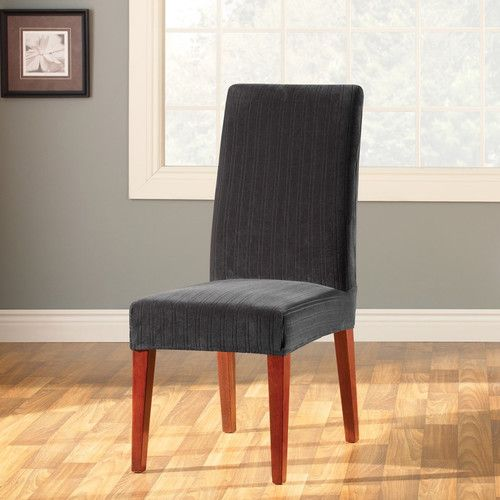 Stretch Pinstripe Dining Chair Slipcover Room CoversFolding