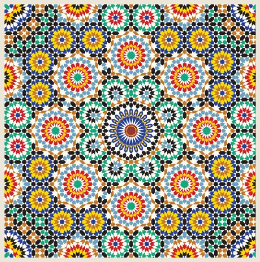 Moroccan tile moroccan tile vision board pinterest Different design and colors of tiles