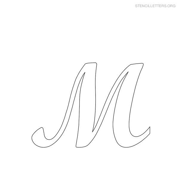 printable letter stencils stencil letter m printables to print