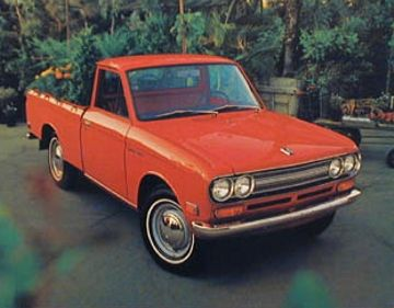 This 1971 Datsun Pickup Is Identical To My First Car I Bought When I Was 15 1 2 I Added A Shell A Boot And Some Two Tone Sha Datsun Pickup Datsun Old Trucks