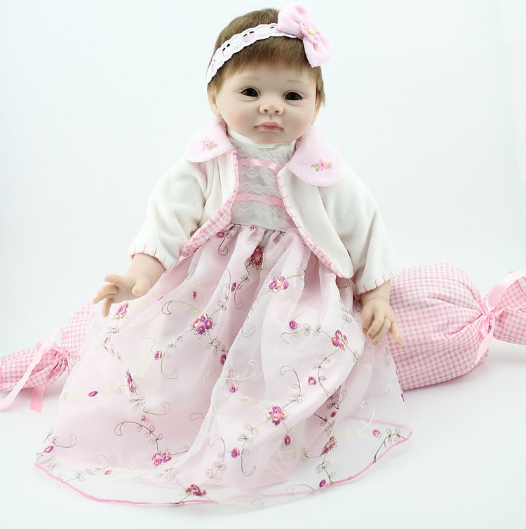 Reborn куклы baby-reborn девушка мягкое тело силикона куклы лучший ... 02da6b10aee3