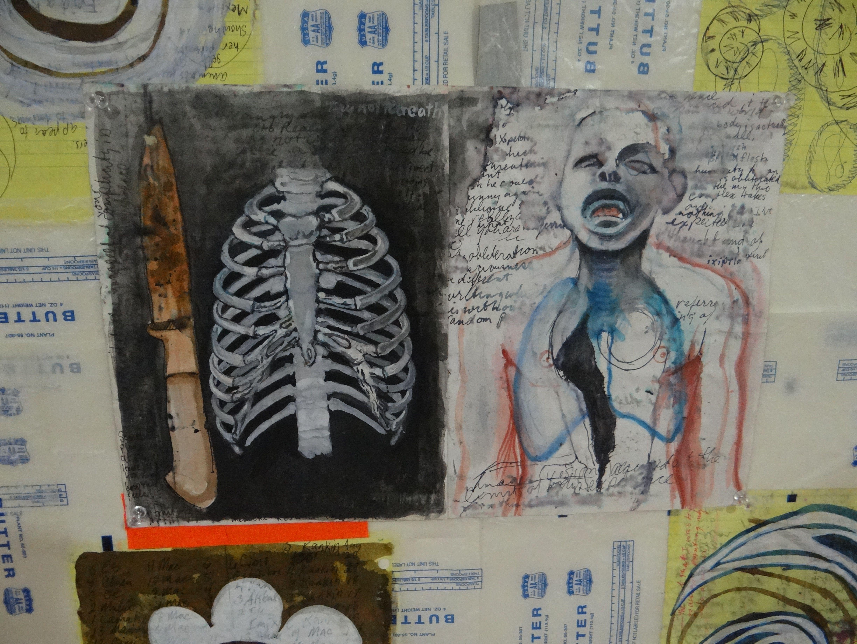 2 Codices exhibit @LaCasaAzulBooks Fall 2012 Art by Paul Lambermont