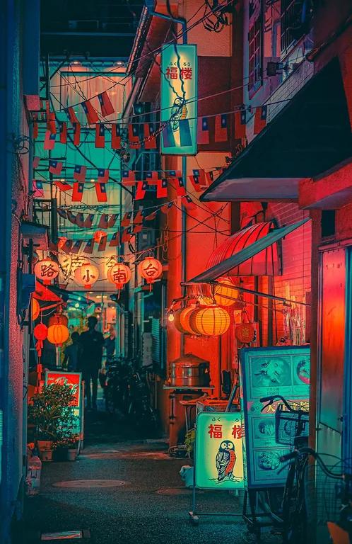 Back Alley in Yokohama Japan