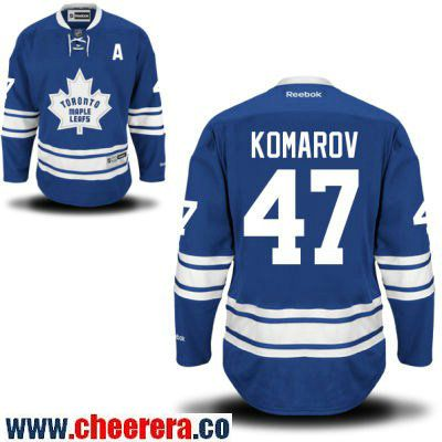 mens toronto maple leafs 47 leo komarov blue third stitched nhl reebok hockey jersey