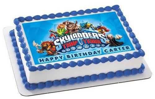 SKYLANDER TRAP TEAM EDIBLE CAKE TOPPER BIRTHDAY DECORATIONS