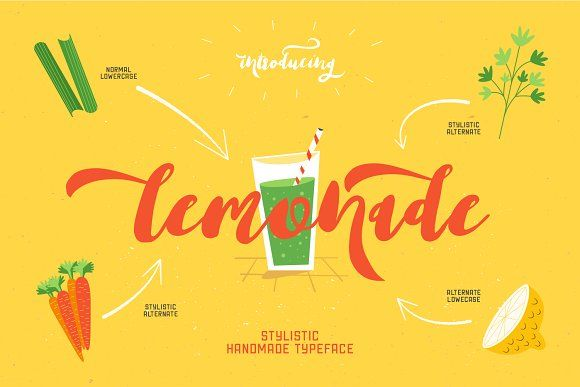 Lemonade Script Font by Design Dukkan on @creativemarket