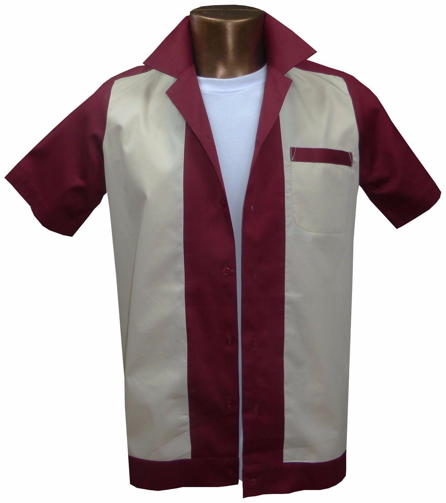 Vintage Mens Shirt Retro 1950s//1960s Rockabilly,Bowling