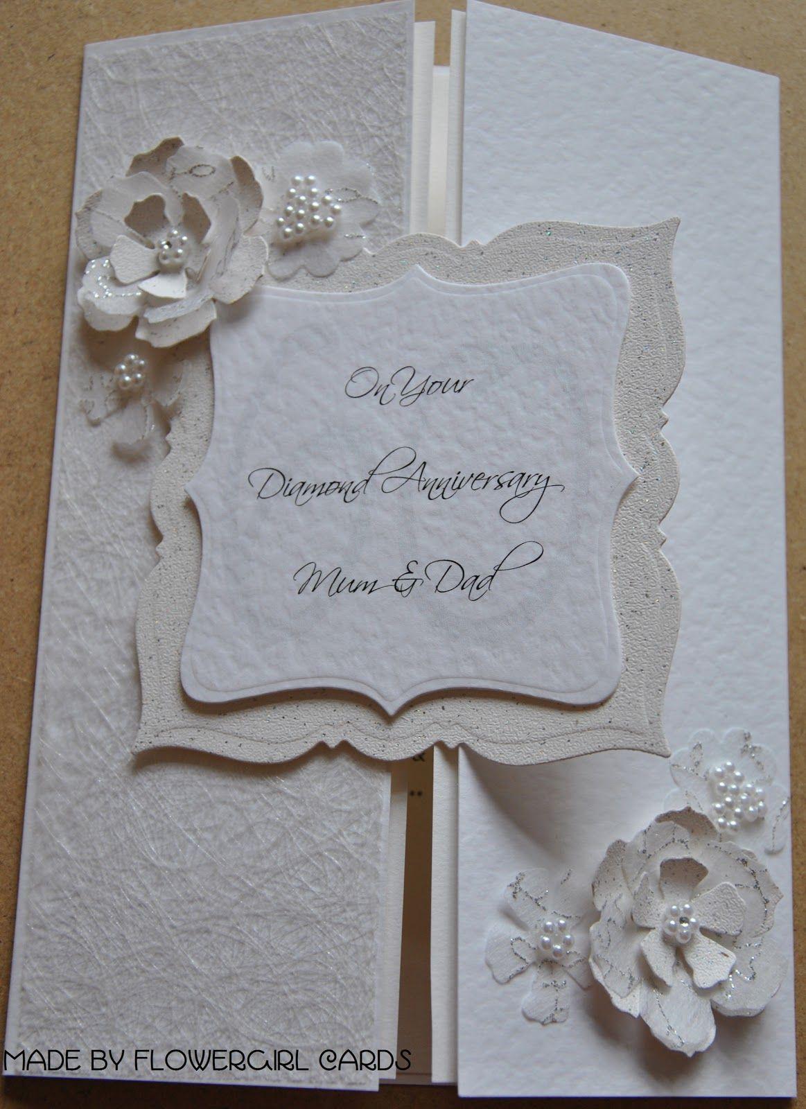 Diamond Anniversary Card Anniversary cards handmade