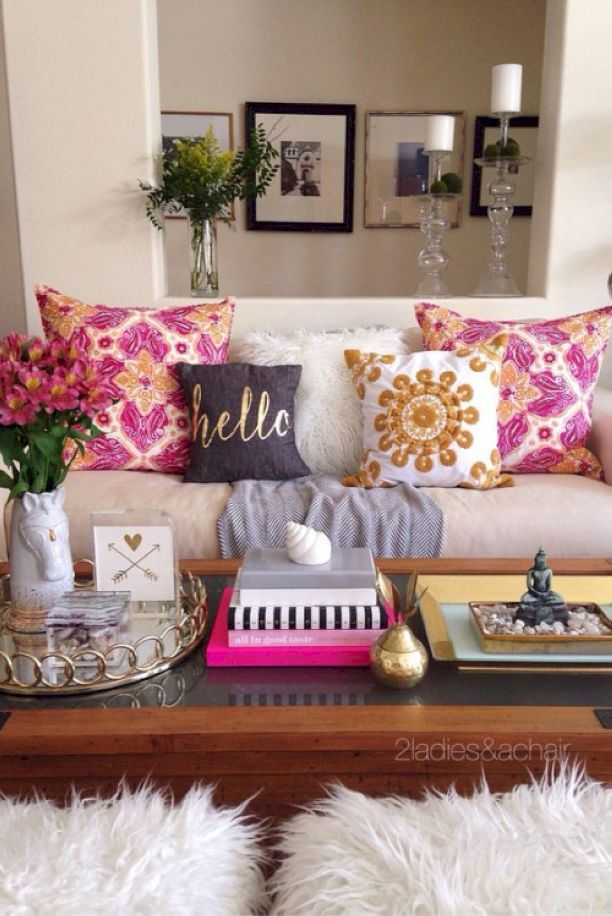 Decorating With Bright Colors Is Fun! The Trick Is How To Do It Right. When  Playing With Color We 2 Ladies Keep It Simple. In This Vignette Simple  Means ...