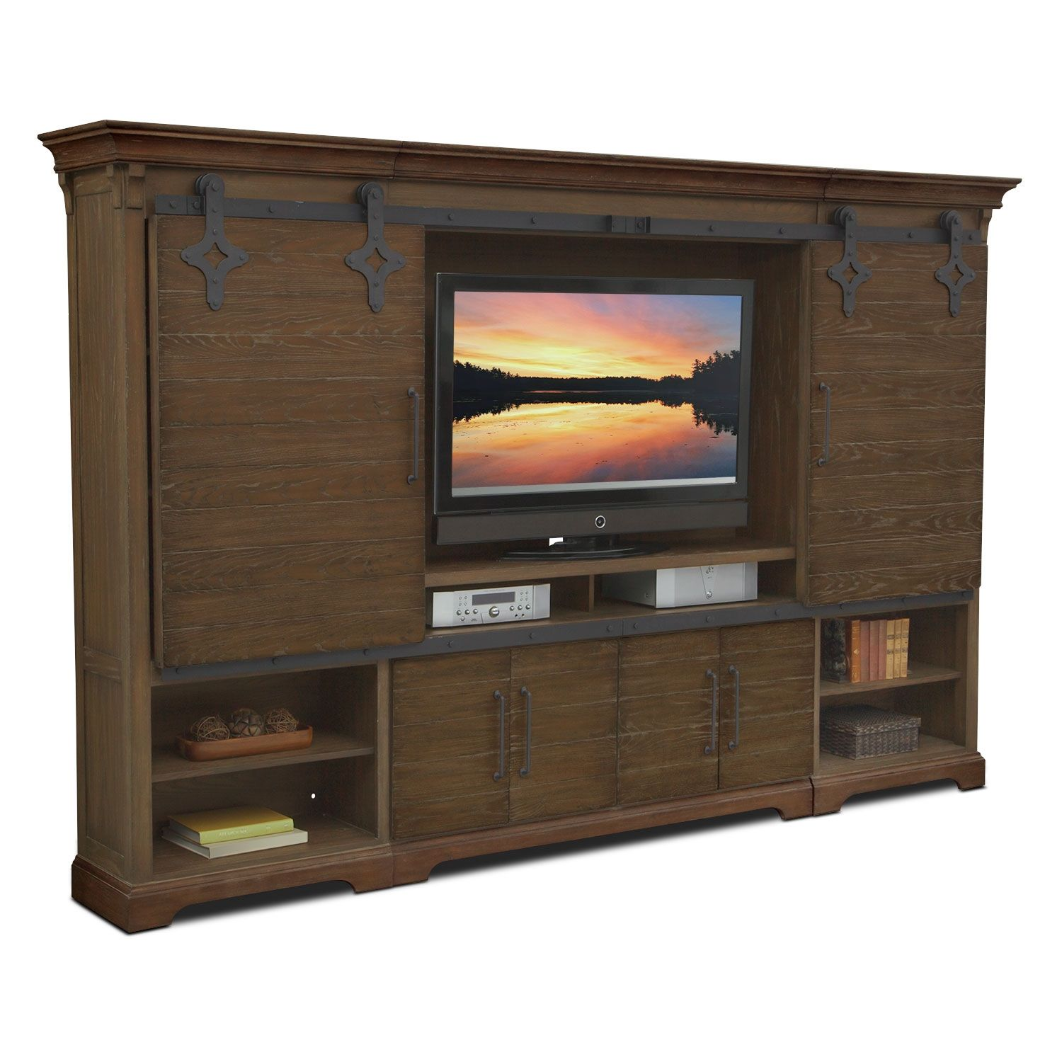 Casual Connection. The Union City entertainment wall unit in brown ...
