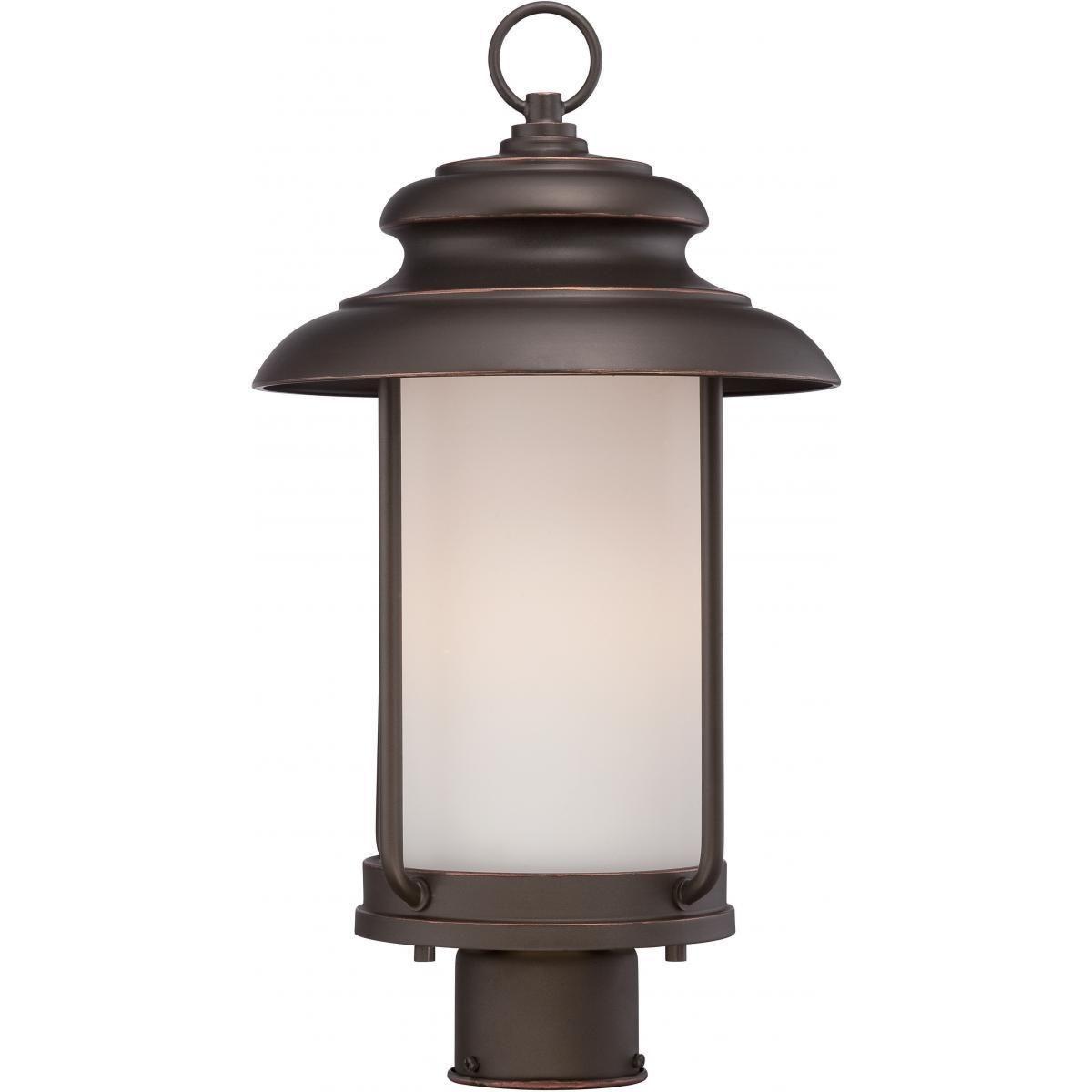 nuvo lighting bethany led outdoor post mahogany brown bronze