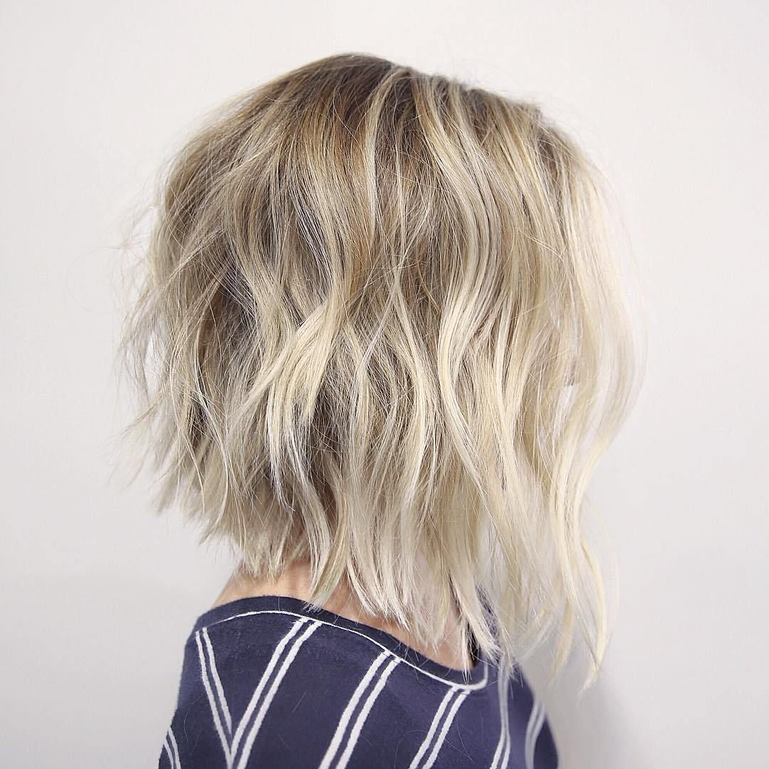 Messy Long Bob Cut