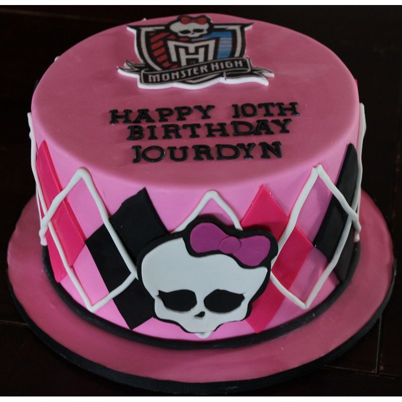 Monster High Birthday Cake 70 from CupCakeDropOff cakes