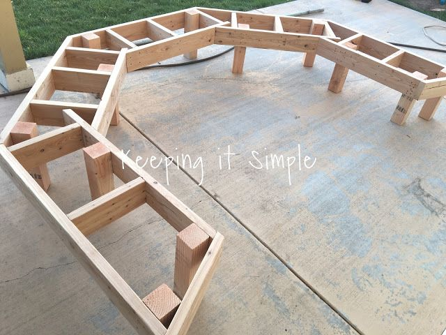 DIY Fire Pit Bench with Step by Step Insructions • Keeping it Simple #diyfirepit