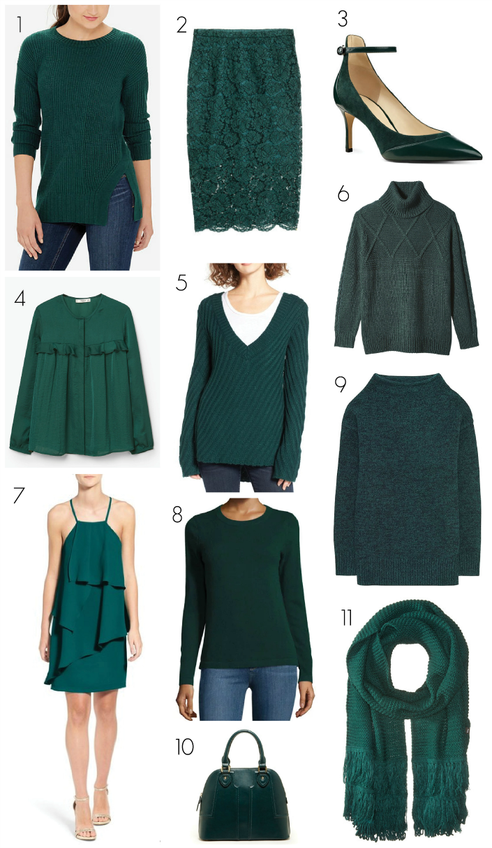 We received an email from a reader earlier this week (hi Nithya!) who was looking for some deep green pieces to add to her wardrobe this se...