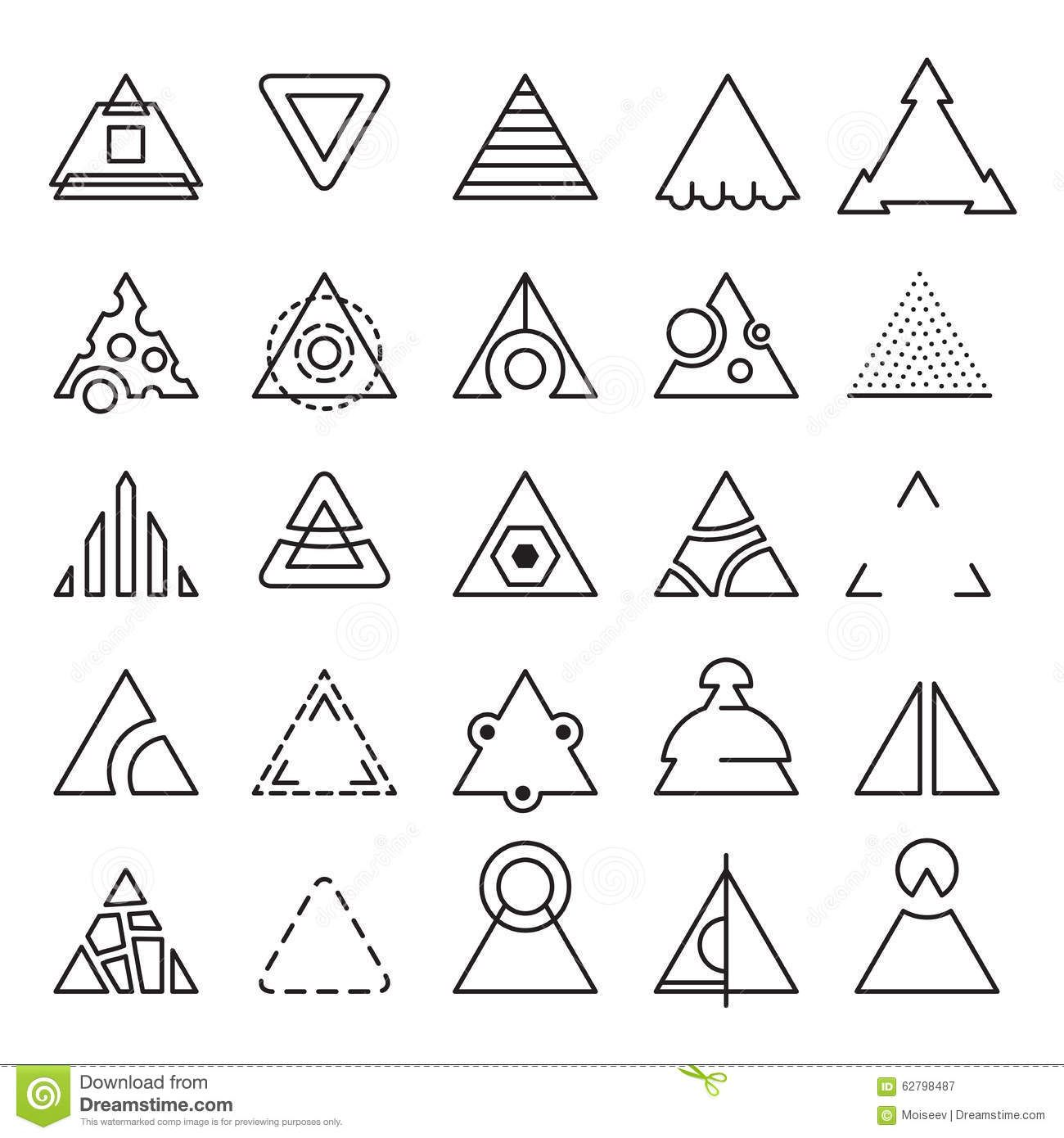 triangle-experimental-icons-vector-set-different-shape-extreme ...