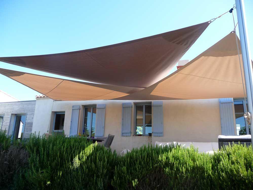 voiles triangles noirmoutier | Terrasse en 2019 | Toile ombrage, Voile ombrage et Voile d'ombre