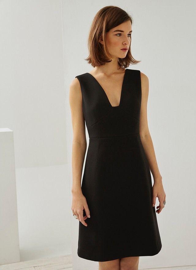 Vestido con escote trapecio vestidos adolfo dominguez for Vestidos adolfo dominguez outlet online