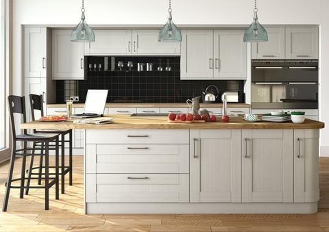 22mm Wilton Oakgrain Grey Shaker Kitchen Doors & 22mm Wilton Oakgrain Grey Shaker Kitchen Doors | Shaker kitchen ...