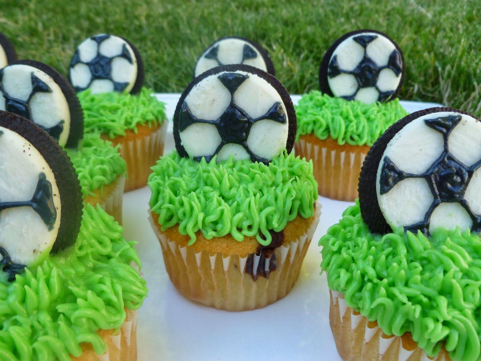 Soccer Cupcakes Soccer Cupcakes Soccer Cake Soccer Birthday Parties