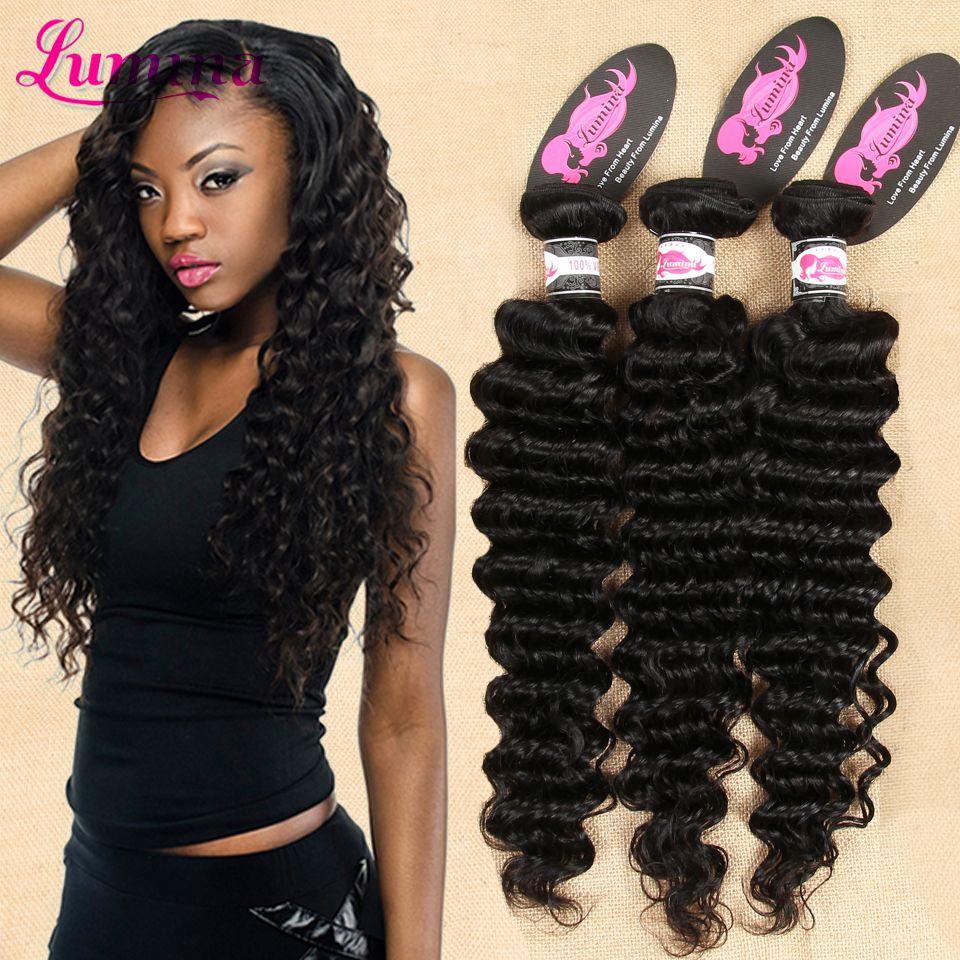 뜨거운! 로사 헤어 제품 브라질 처녀 머리 깊은 웨이브 브라질 머리 4 번들 귀빈 아름다움 브라질 곱슬 직조 인간의 머리