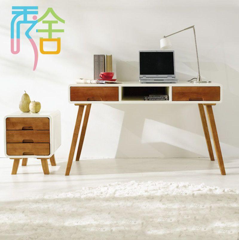 Modern Minimalist Desk korean-study-show-homes-modern-minimalist-wood-font-b-desk-b-font