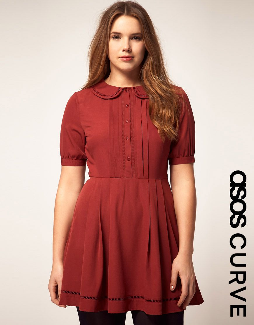 CURVE Dress With Collar | My Style | Asos curve dresses ...