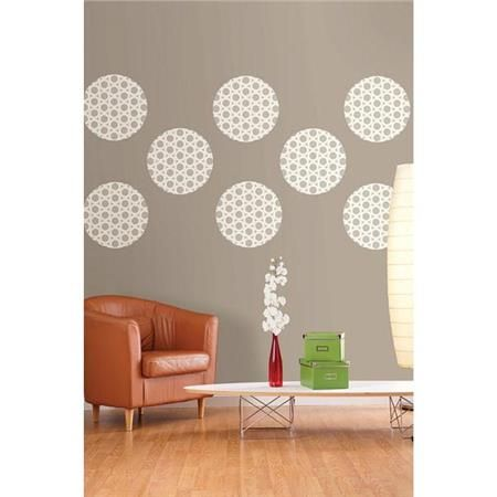 These Grey And White Dots Add A Fashionable Flair To Any Wall