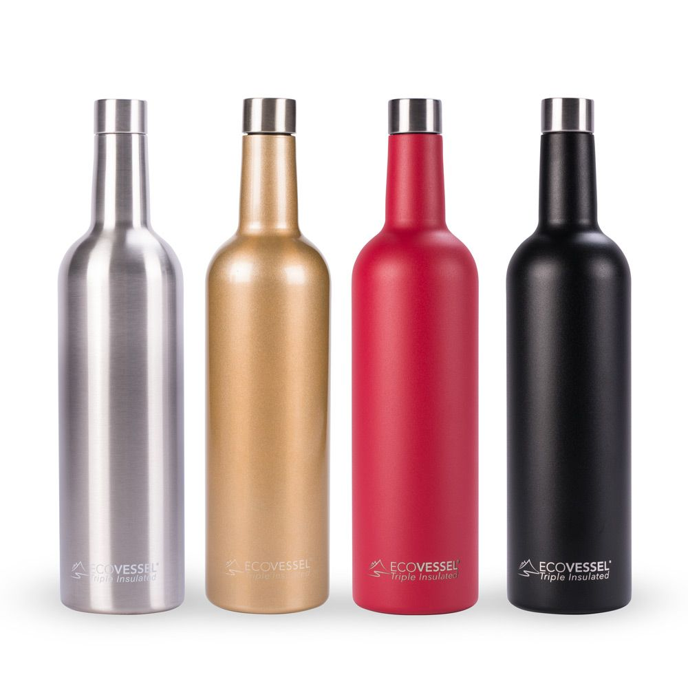 34 99 Comes In Red Ecovessel Vine Triple Insulated Stainless Steel Wine Bottle 750ml Wine Bottle Wine Gifts Bottle