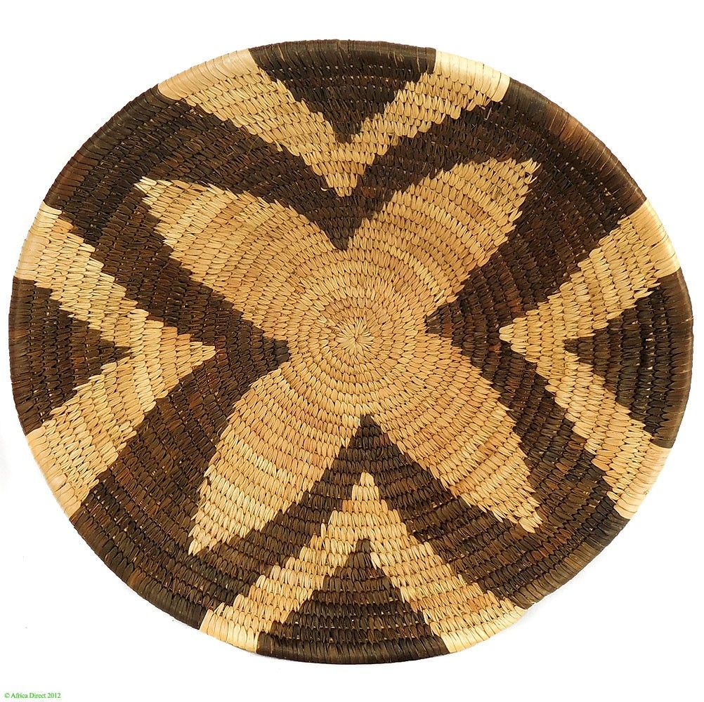 Basket Weaving Botswana : Forehead of the zebra botswana basket design basketry
