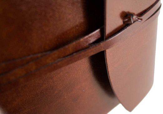 Journal Intime recyclé Romano en cuir Italien fait à la main (13cm x 17cm): Amazon.fr: Fournitures de bureau