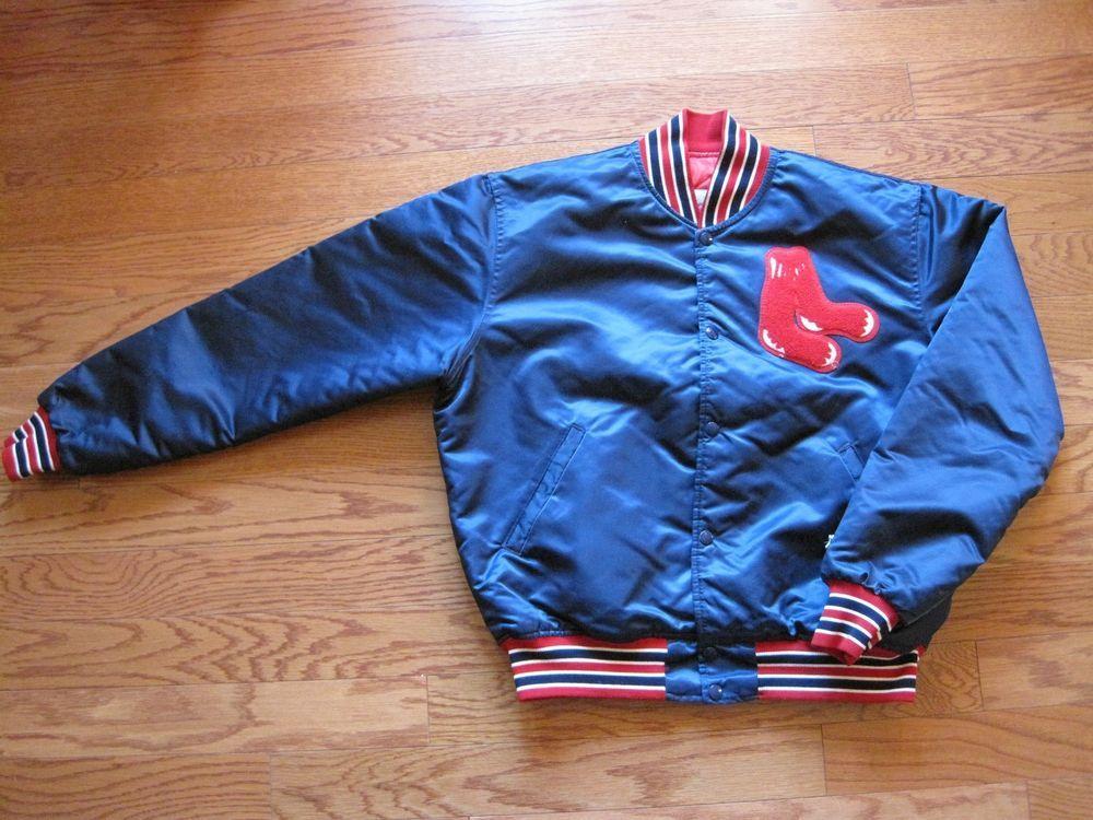 6fc266f9e Vintage Starter Satin Boston Red Sox Bomber Jacket MLB Diamond ...