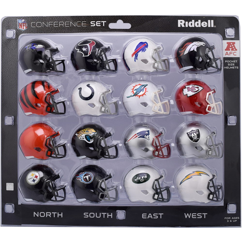 New Release 2018 Riddell Nfl Afc Conference 16pc Speed Pocket Pro Helmet Set Includes The New Release 2018 Tennessee Titans Jacks Nfl Football Helmets Helmet