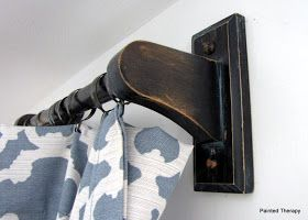 Love The Drapes And Using Wood Paper Towel Holders From Home Depot