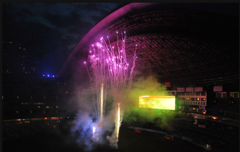 Pyrotechnic display (fireworks) are always a spectacle at Rogers Centre. Bruce Springsteen's Wrecking Ball Tour is likely to light up the sky!