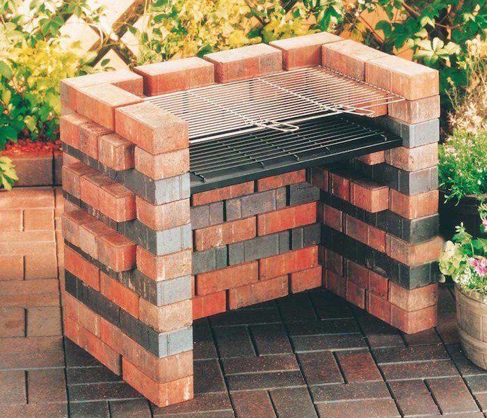 Merveilleux Barbecue En Dur Avec Brique Refractaire Dans Le Jardin Belle Conception