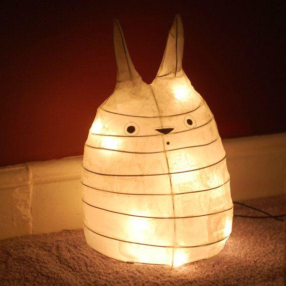 My Neighbor Totoro Lamp Light Night Light Fairy By Zenibasattic Battery Powered Fairy Lights Lamp Light Lamp