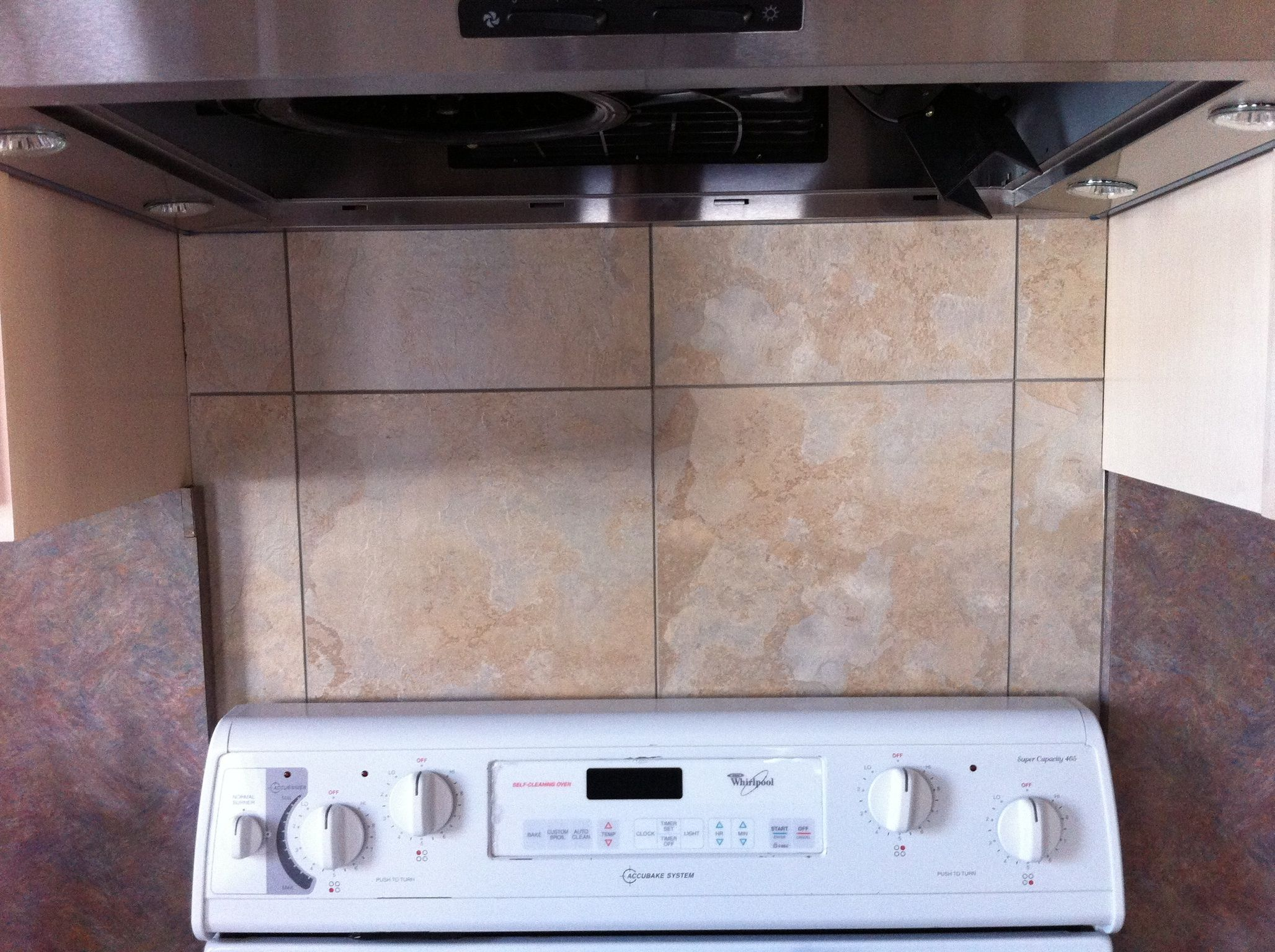 Made A Super Cheap And Easy Backsplash Using Simple Vinyl