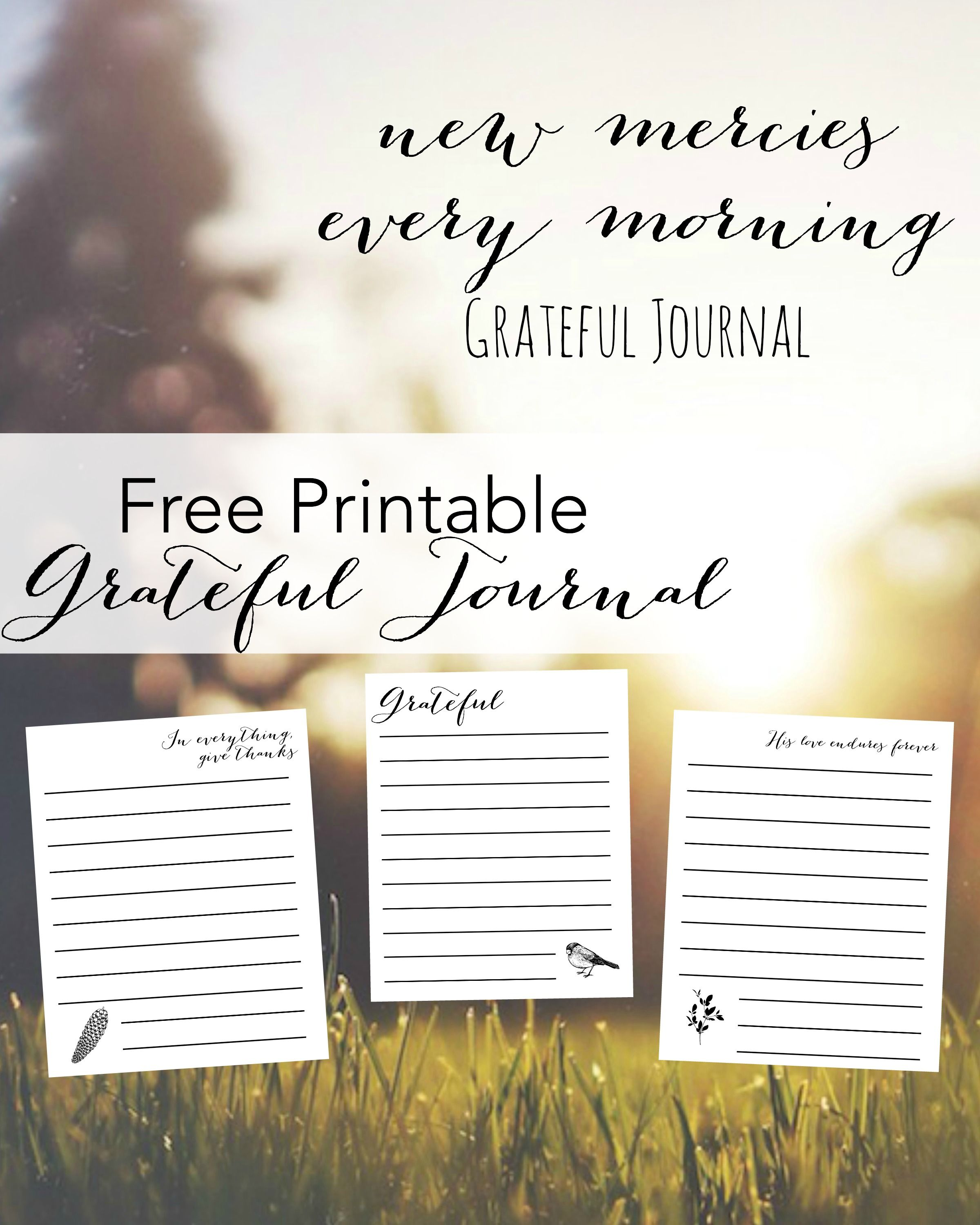 Free Printable Gratitude Journal Freeprintable