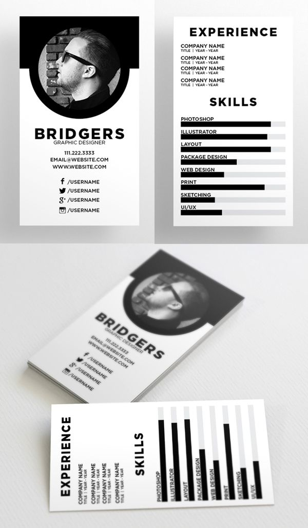 The Resume - Business Card Template Resume  portfolio design - resume business cards