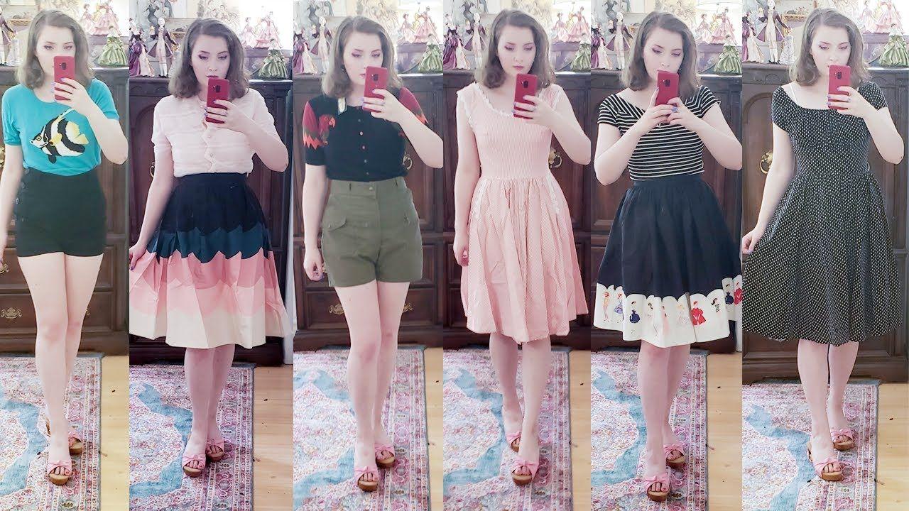 Unique Vintage Try On Haul Review Summer Clothing Haul Vintage Inspired Outfits Summer Outfits Clothing Haul