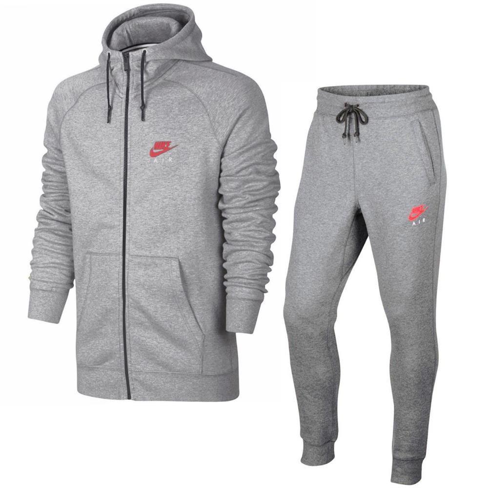 Nike Air Heritage Fleece Herren Trainingsanzug Hoodie Jogginghose Anzug 2 Teilig Fleece Herren Heritage Nike Sweats Jordan Sweat Suits Nike Sweat Suits