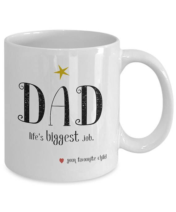 Funny Statement Ceramic Coffee Mug for Dad From Your Favorite Child