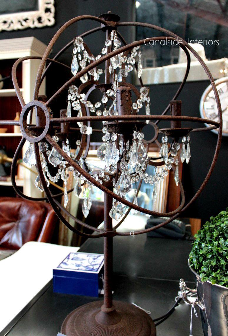 Foucault iron orb crystal table lamp 80cm advertise your best foucault iron orb crystal table lamp 80cm geotapseo Images